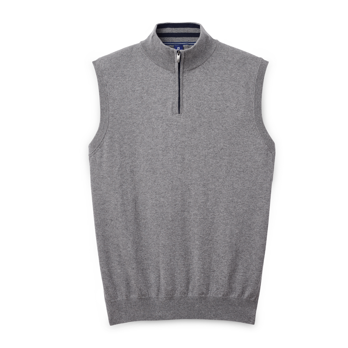 Cotton Cashmere Quarter-Zip Sweater Vest