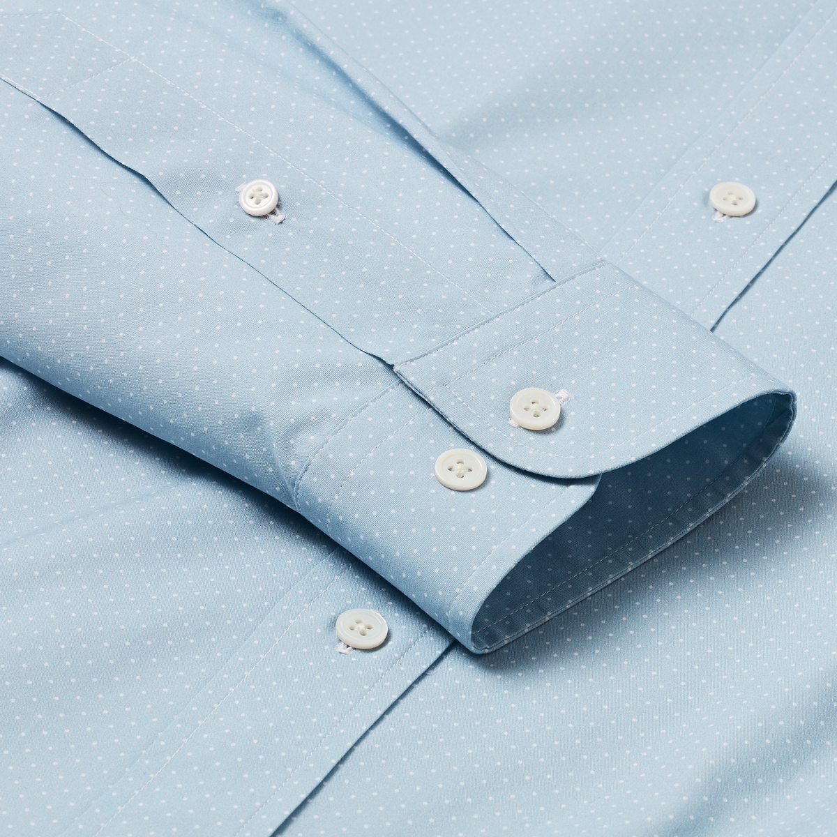 Chambray Dot Print Shirt