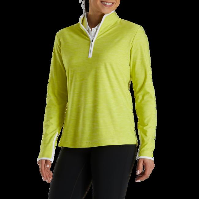 Quarter-Zip Space Dye Mid-Layer Women