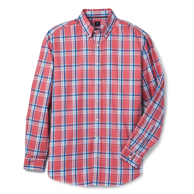 Brushed Plaid Woven-Previous Season Style