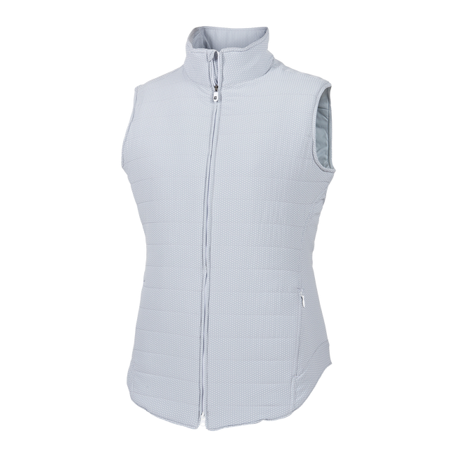 Printed Woven Insulated Vest Women-Previous Season Style