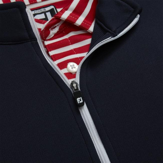 Half-Zip Contrast Stitch Mid-Layer Junior
