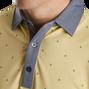 Birdseye Argyle Print Self Collar