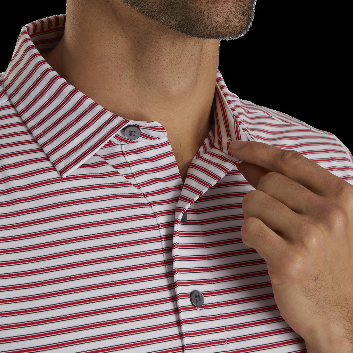 Stretch Lisle Pinstripe