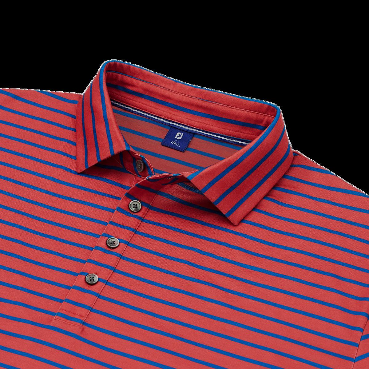 Pima Lisle Stripe Spread Collar