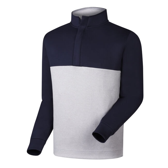 Jersey Knit Color Block Half-Zip-Previous Season Style