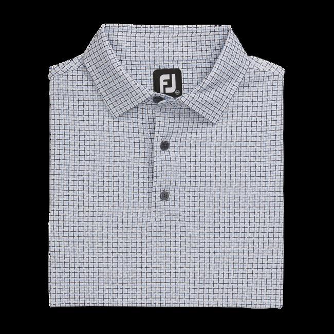 Lisle Open Weave Print Self Collar