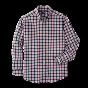 Stretch Cotton Woven Plaid Shirt-Previous Season Style