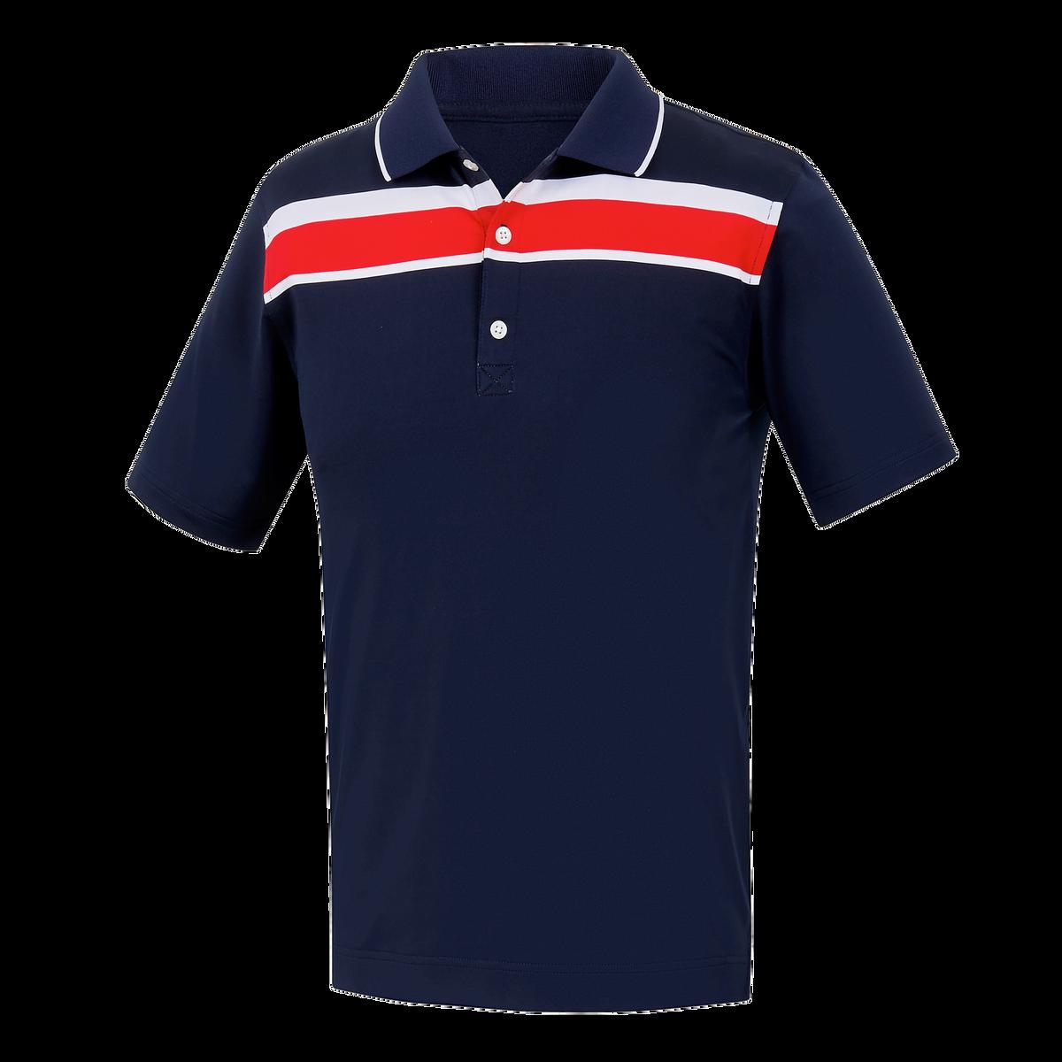 Lisle Chest Stripe Knit Collar Junior