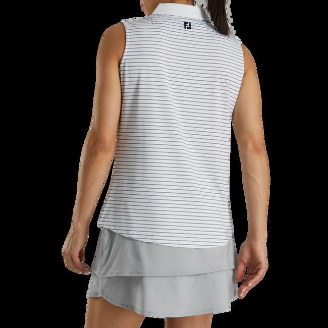 Sleeveless Pinstripe Shirt Women