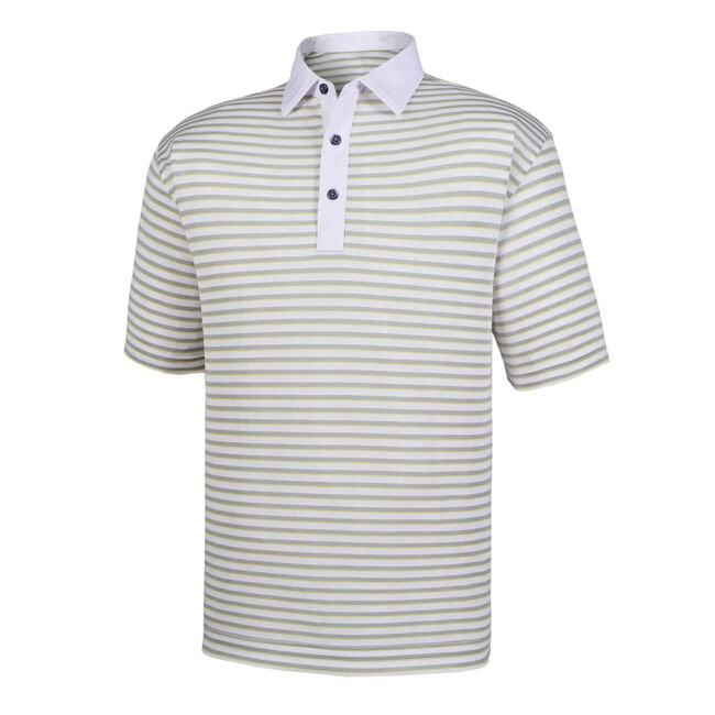 Super Stretch Baby Pique Multi Stripe Self Collar-Previous Season Style