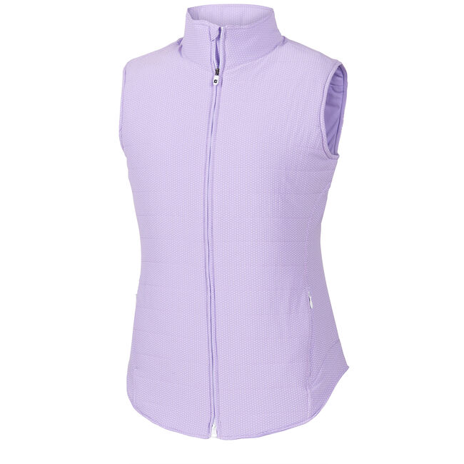 Printed Woven Insulated Vest Women