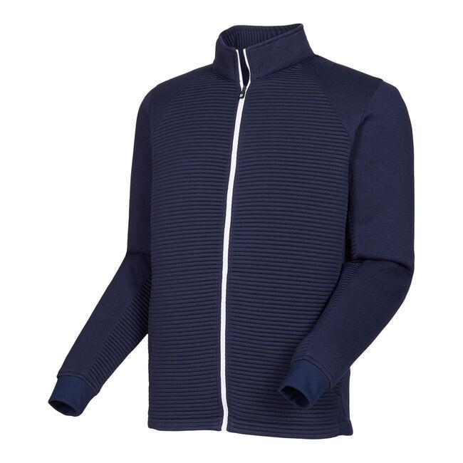 Ribbed Sweater Fleece Jacket