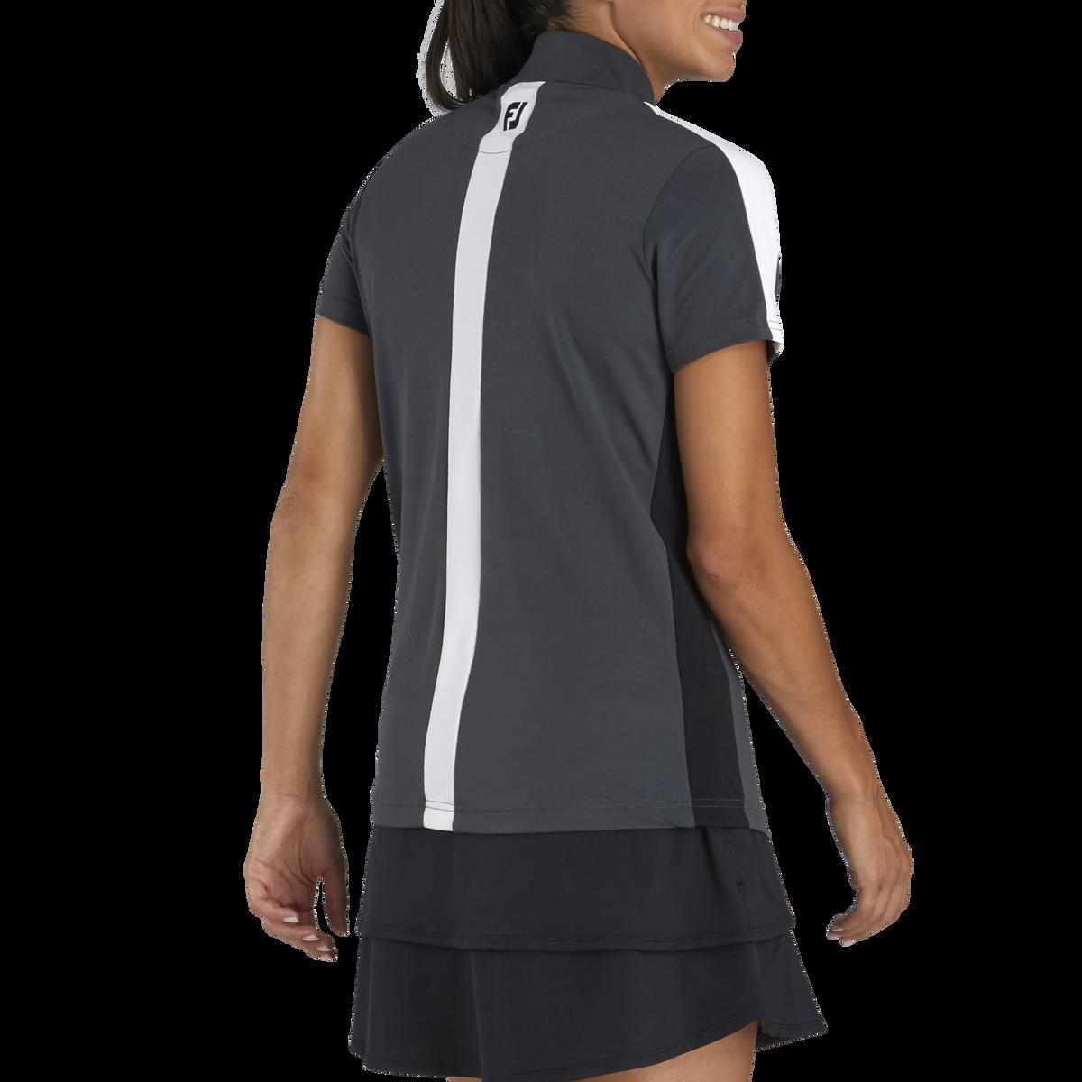 Color Block Pique Zip Shirt Women