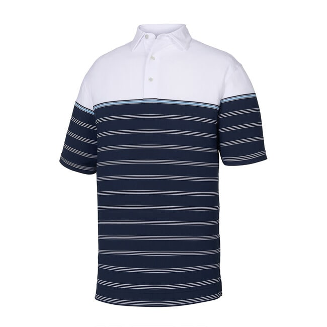 Lisle Colorblock Stripe Self Collar