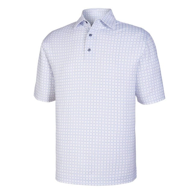 Lisle Grid Print Self Collar-Previous Season Style