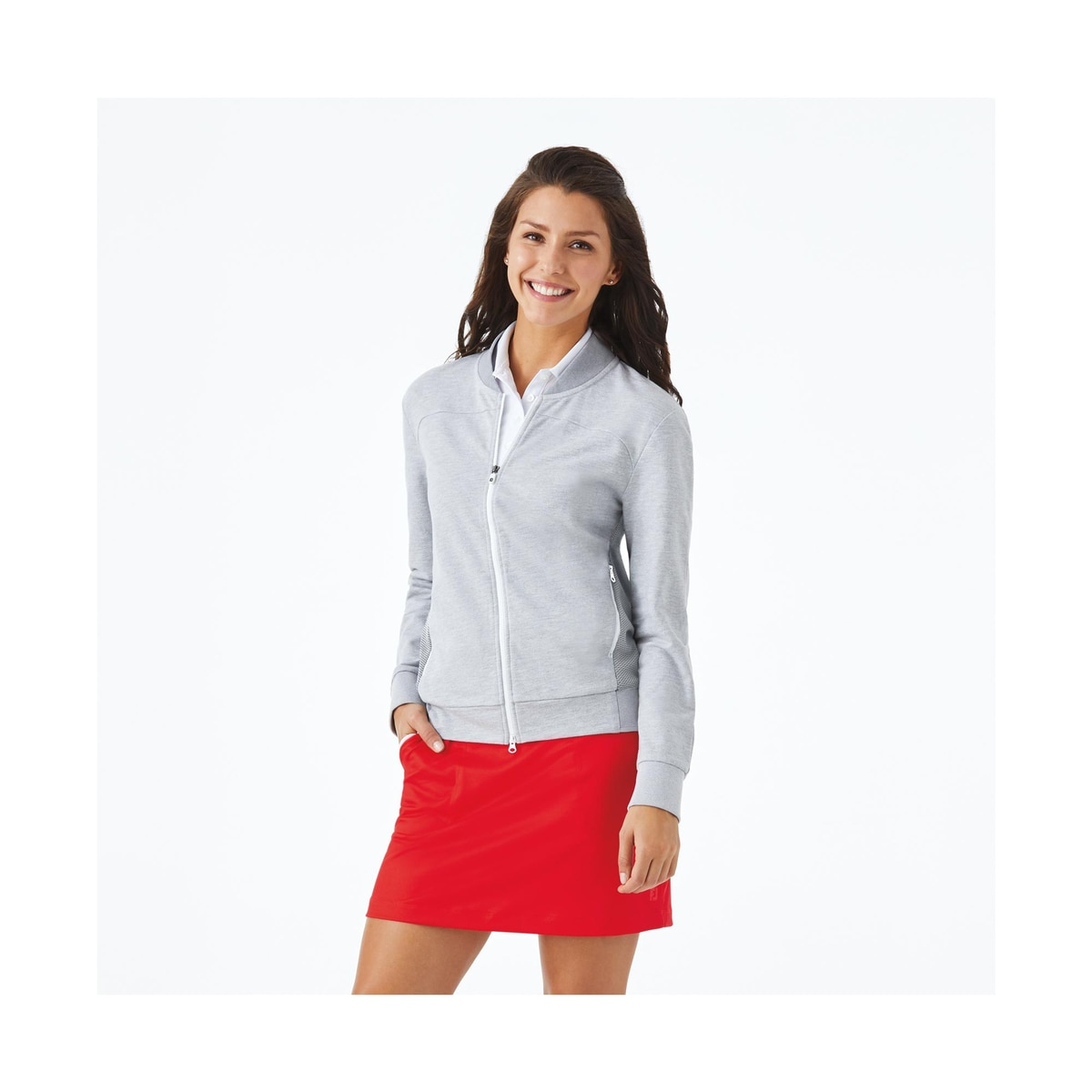 Full-Zip Bomber Jacket Women-Previous Season Style