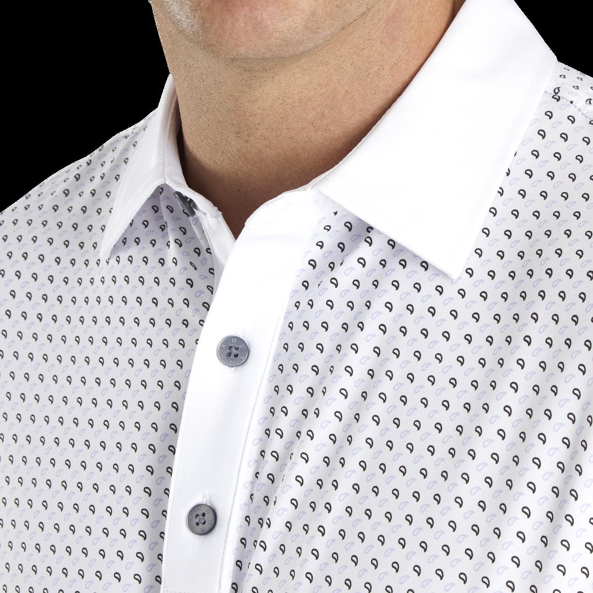 Lisle Mini Paisley Self Collar