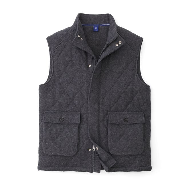 Quilted Full Zip Vest