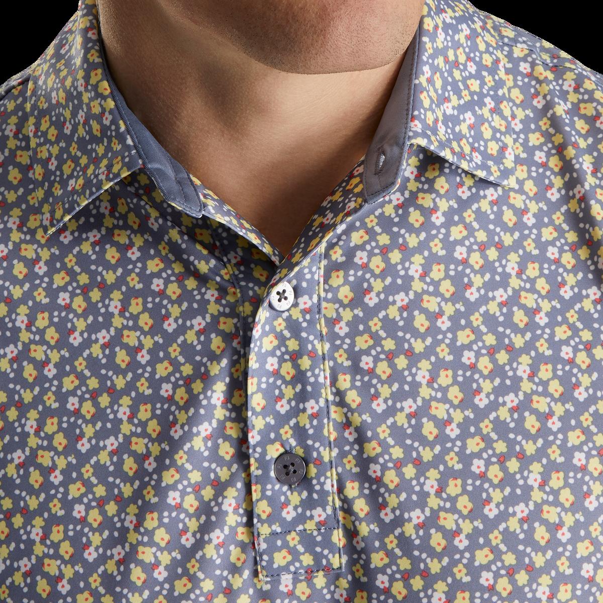 Lisle Flower Print Self Collar