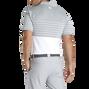 Lisle Engineered Stripe Self Collar