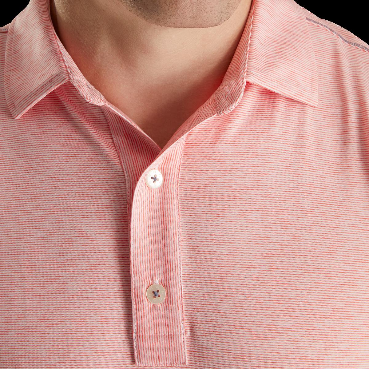 Lisle Space Dye Microstripe Self Collar-Previous Season Style