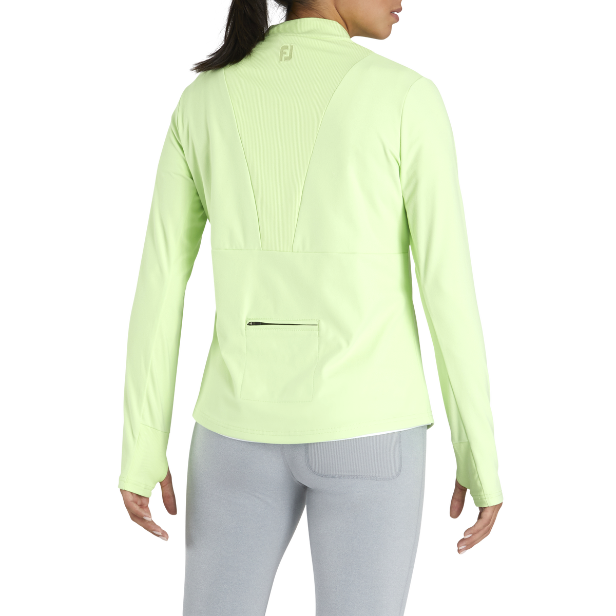 Half-Zip Rib Block Mid-Layer Women