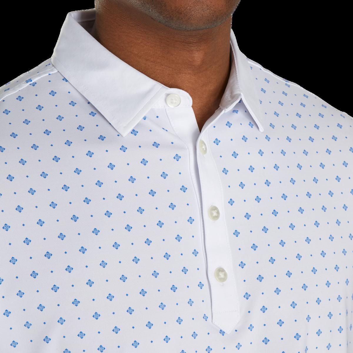 Athletic Fit Deco Print Self Collar