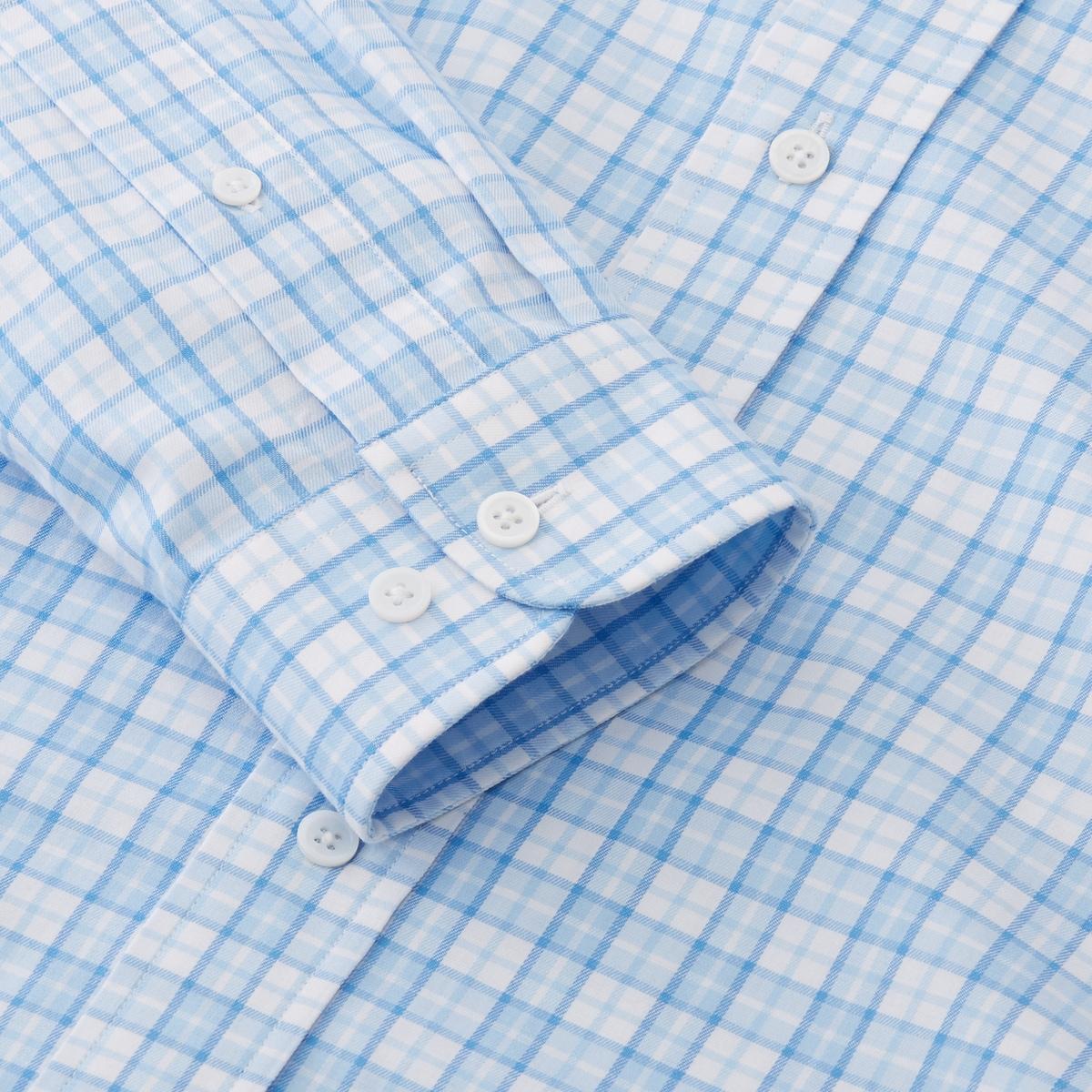 Lightweight Stretch Twill Woven Plaid Shirt-Previous Season Style