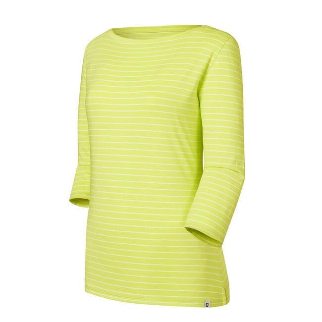 Stretch Lisle Stripe Boatneck Shirt Women