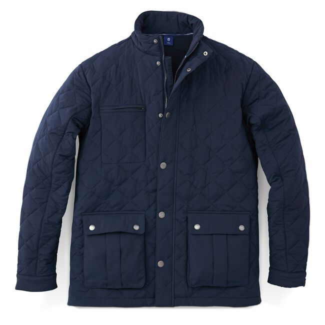Quilted Stretch Woven Jacket-Previous Season Style