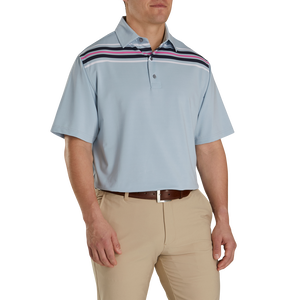Lisle Chest Stripe Self Collar-Previous Season Style