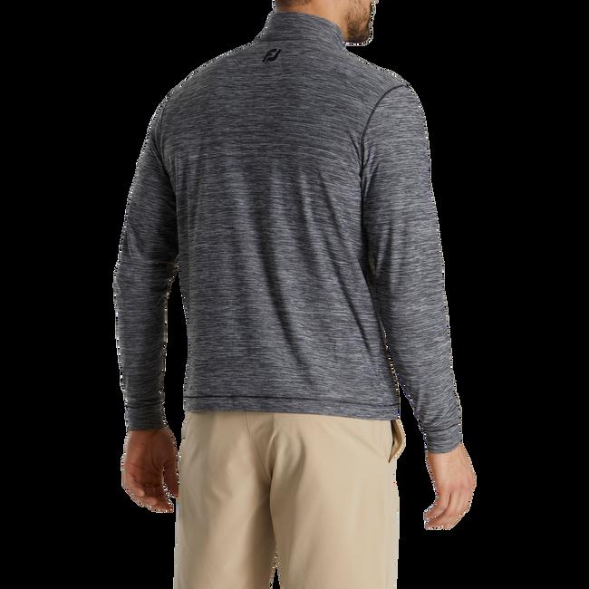 Space Dye Brushed Back Jersey Quarter-Zip