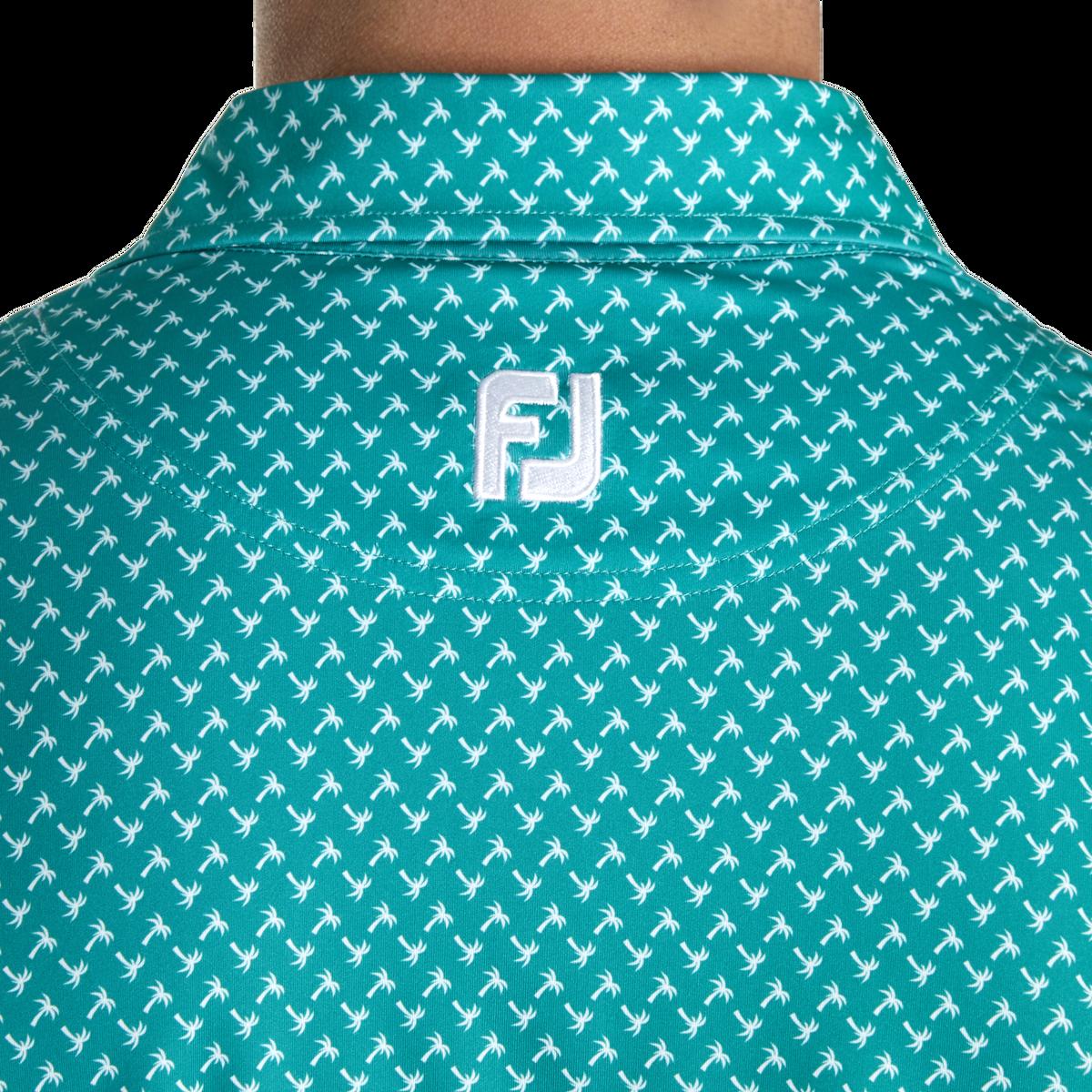 Lisle Palm Print Self Collar-Previous Season Style
