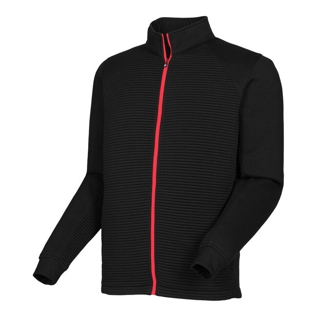 Ribbed Sweater Fleece Jacket