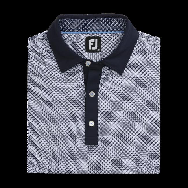 Lisle Foulard Print Self Collar-Previous Season Style