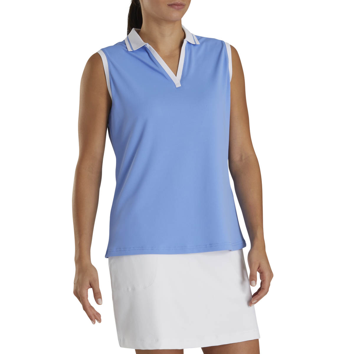 Sleeveless Open Placket Women