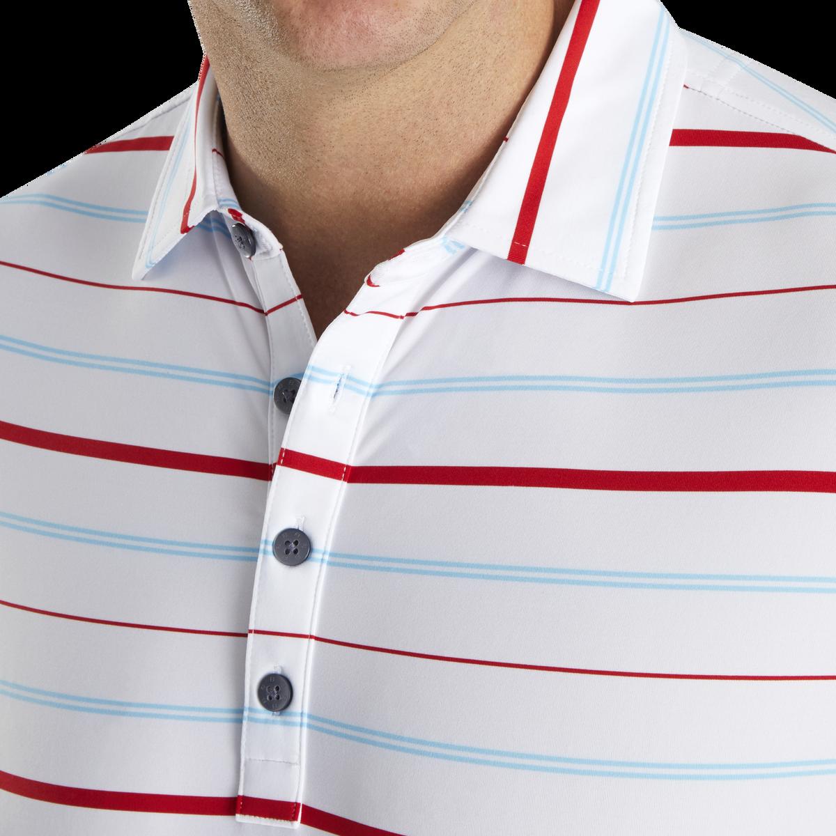Lisle Open Stripe Self Collar
