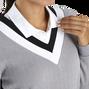 Drop Needle V-Neck Pullover Women