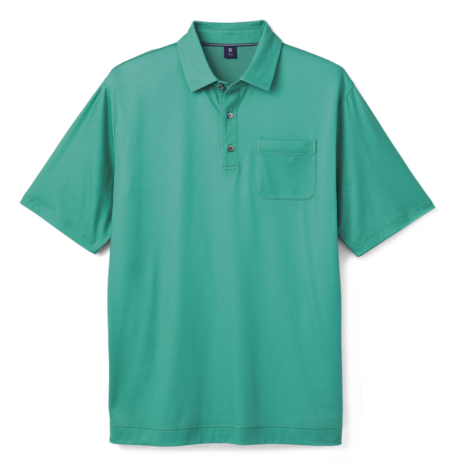 Pima Lisle Chest Pocket with Set on Placket