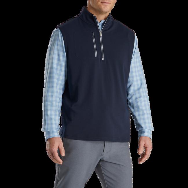 Jersey Knit Quarter-Zip Vest