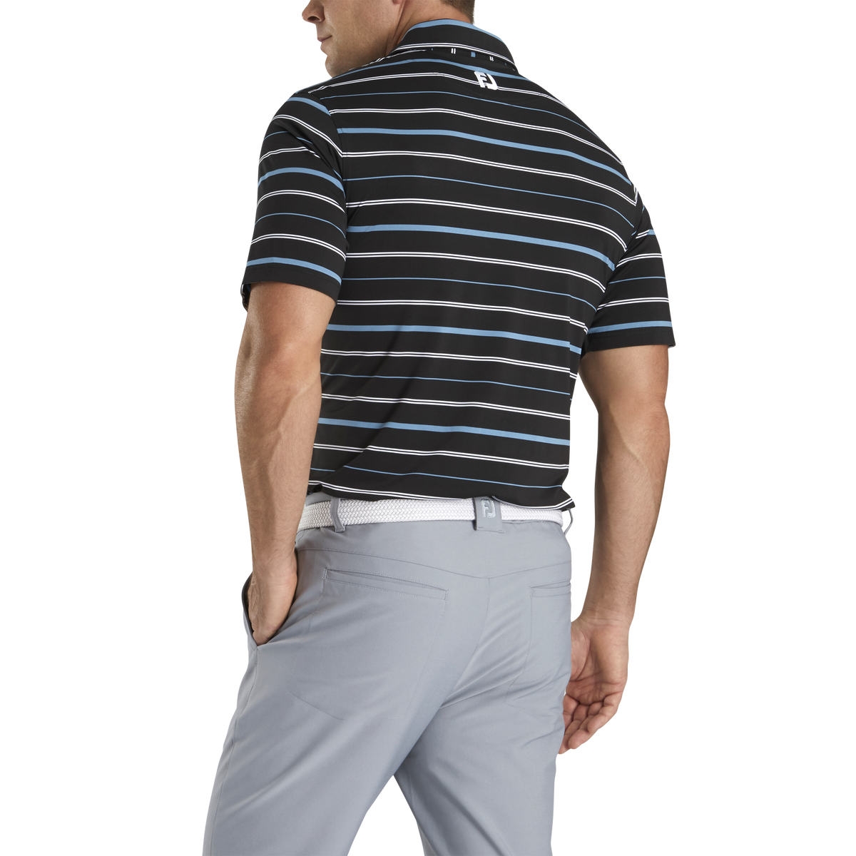 Lisle Open Stripe Self Collar-Previous Season Style