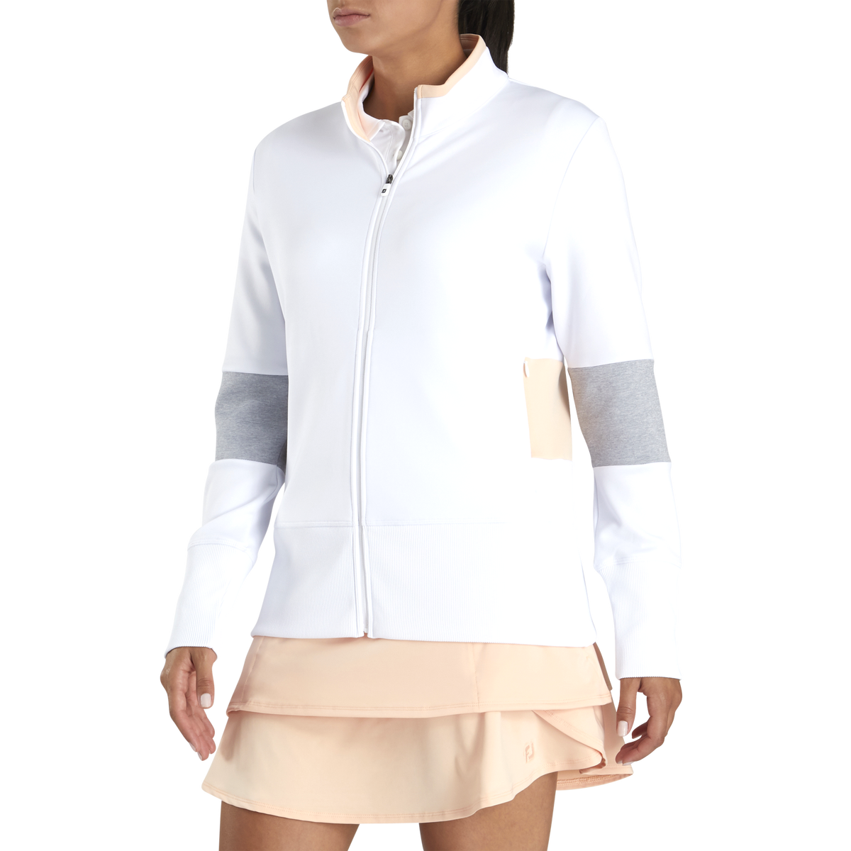 Double Jersey Blocked FullZip Women
