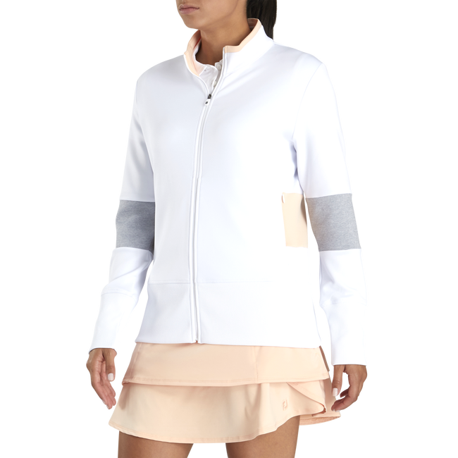 Double Jersey Blocked Full-Zip Women
