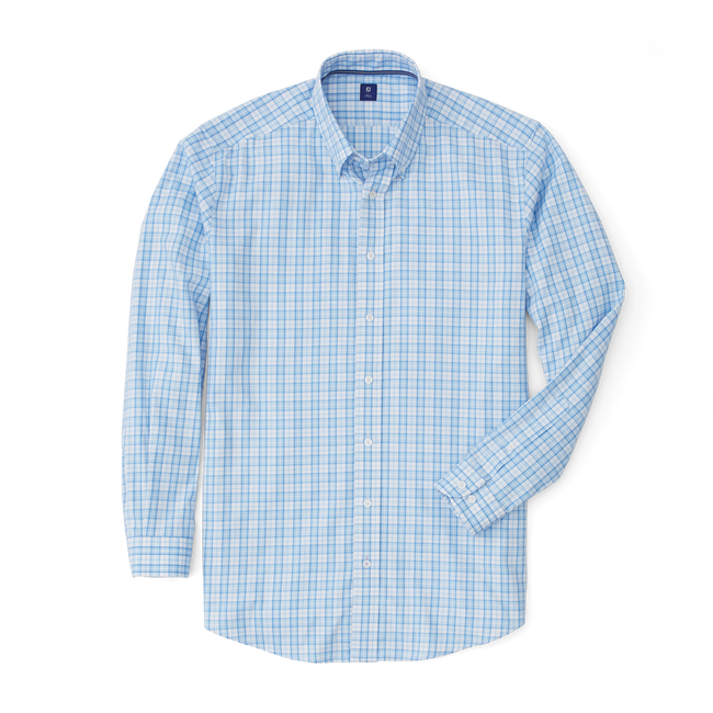 Lightweight Stretch Twill Woven Plaid Shirt-Previous Season Style
