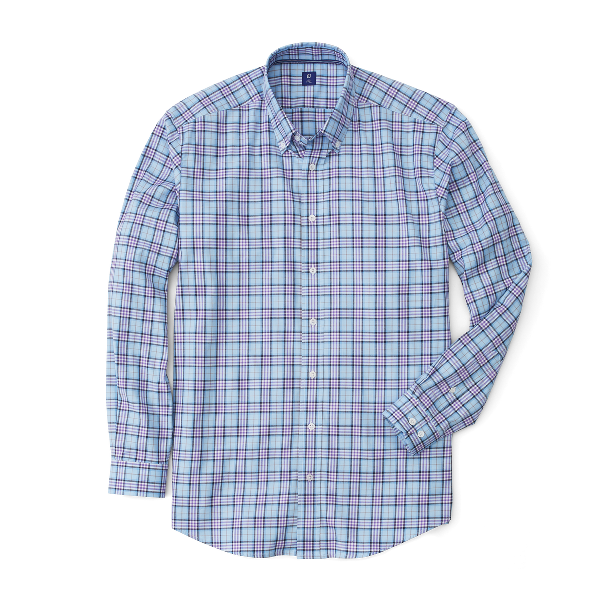Stretch Twill Woven Open Plaid Shirt