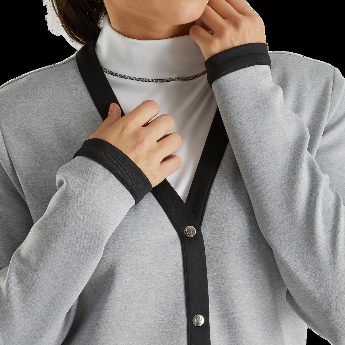 Double Jersey Knit Cardigan Women
