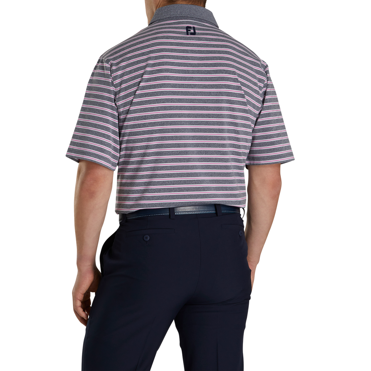 Lisle Stripe Self Collar