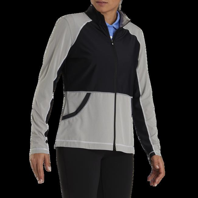 Full-Zip Mini Stripe Mid Layer Women