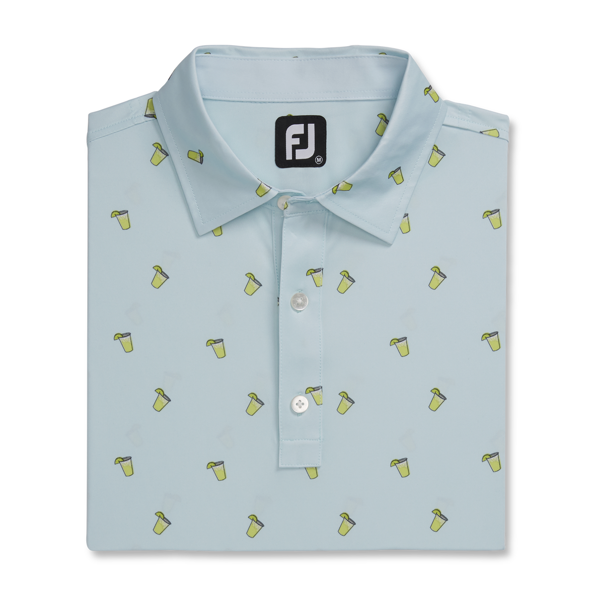 Lisle Cocktail Print Self Collar